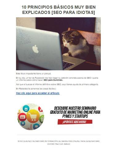 Email Contenido Educativo