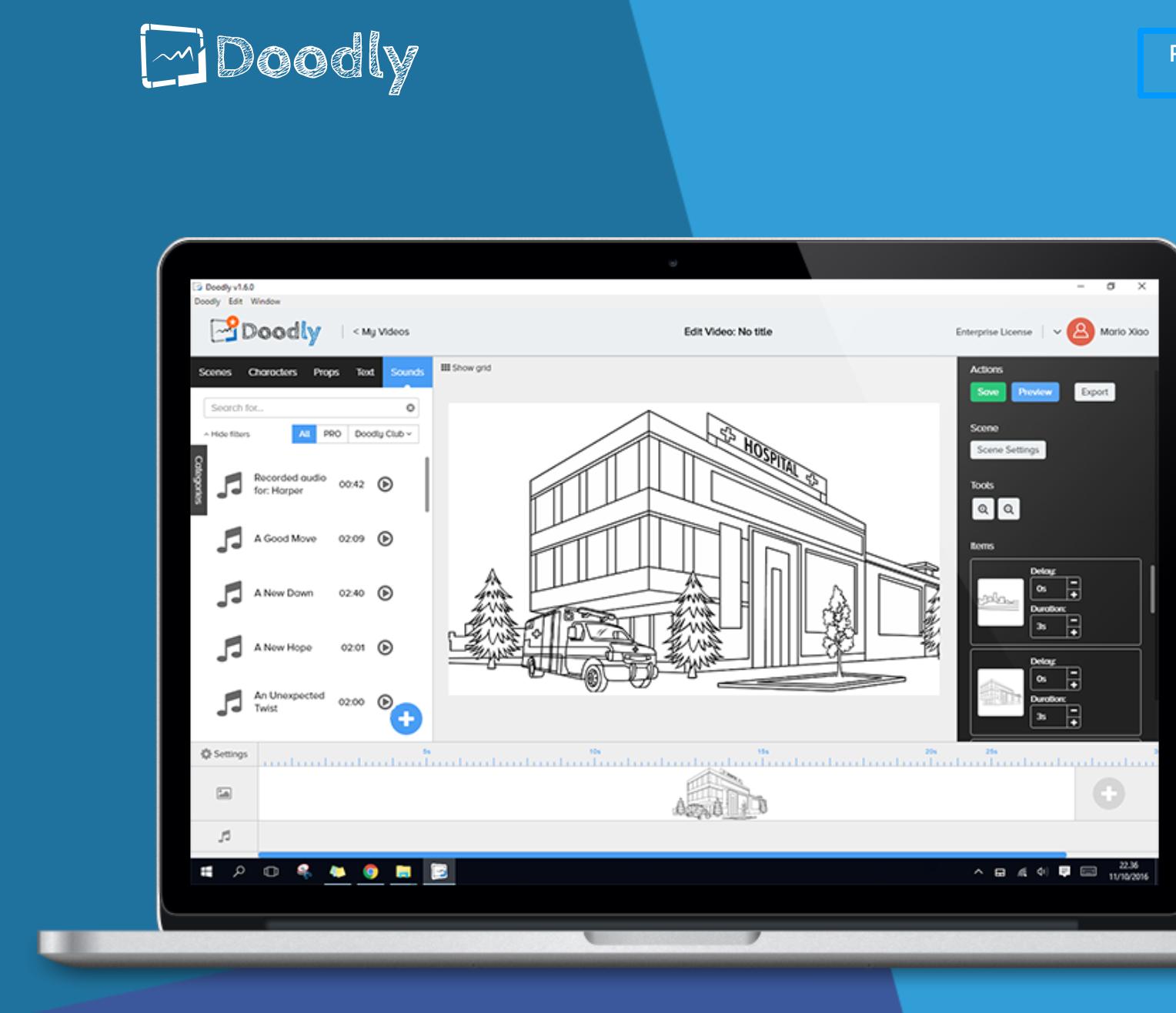 Crea vídeos con Doodly