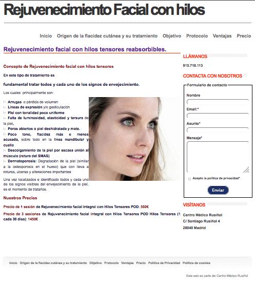rejuvenecimiento facial con hilos
