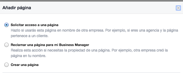 agregar pagina de fans facebook for business