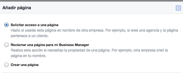 agregar pagina de fans facebook for business