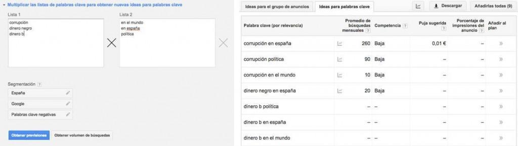 concatenado google adwords
