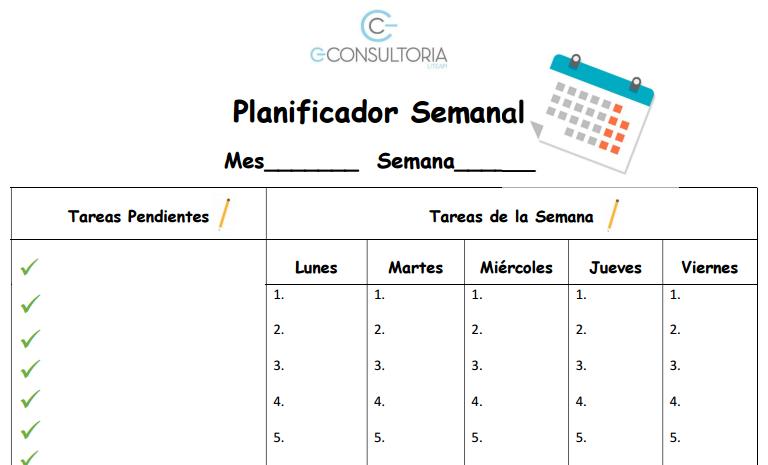 Planificación semanal